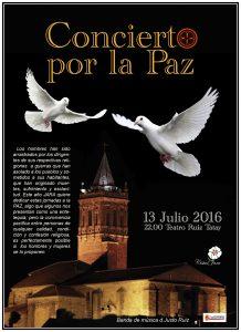 cartel concierto por la paz